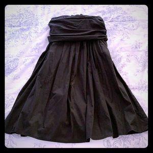 Pleated skirt, black, cotton